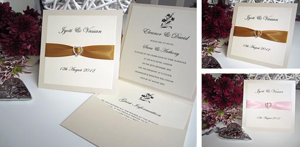 Buckingham pocketfold invitation