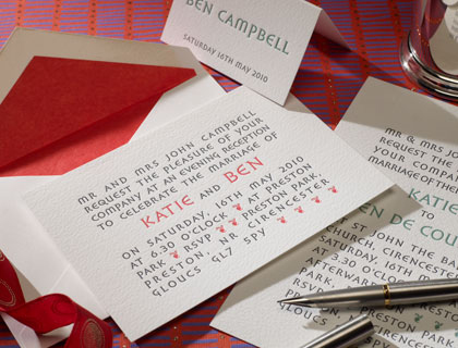 De Courcy letterpress stationery
