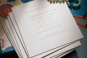 New Bond St traditional invitation