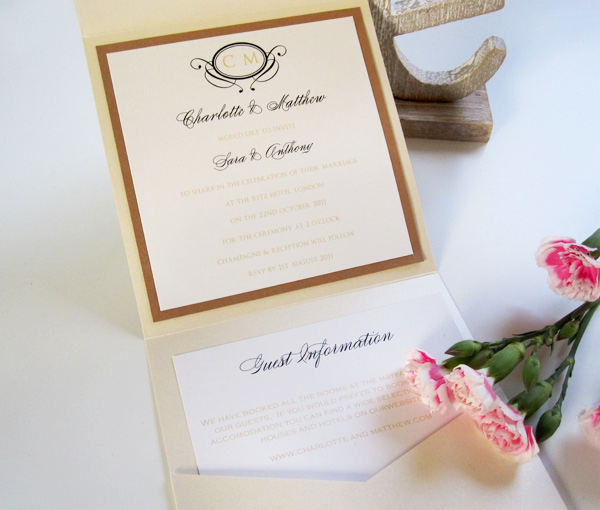Ritz pocketfold invitation