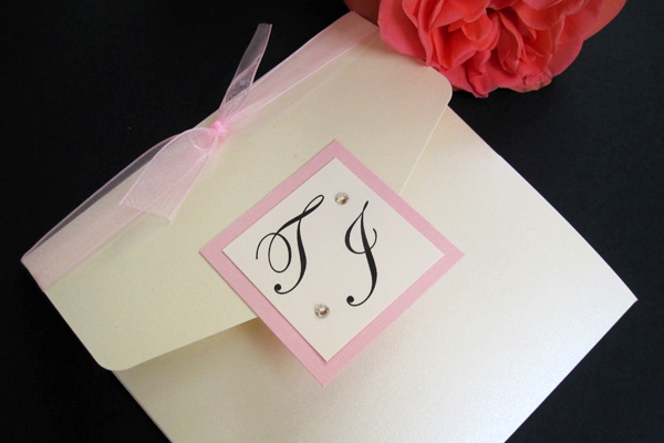 Savoy pocketfold invitation