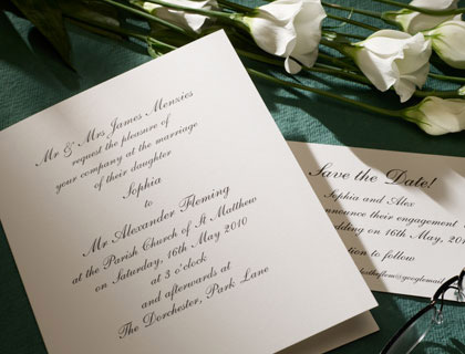 Shelley traditional invitation
