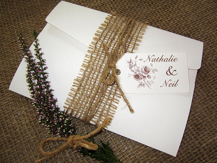Rustic Rose Stack 187 Sj Wedding Invitations London