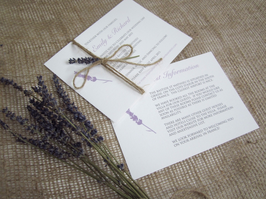 Superb Rustic Lavender Stationery Suite Rustic Lavender Wedding Invitation Suite  ...