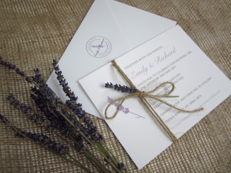 lavender love rustic wedding stationery suite sj With lavender themed wedding invitations