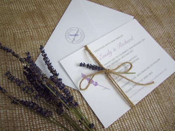 Lavender Wedding Invitation Suite Sj Wedding Invitations