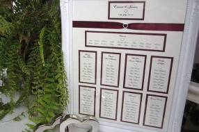 'Marylebone' wedding table seating plan